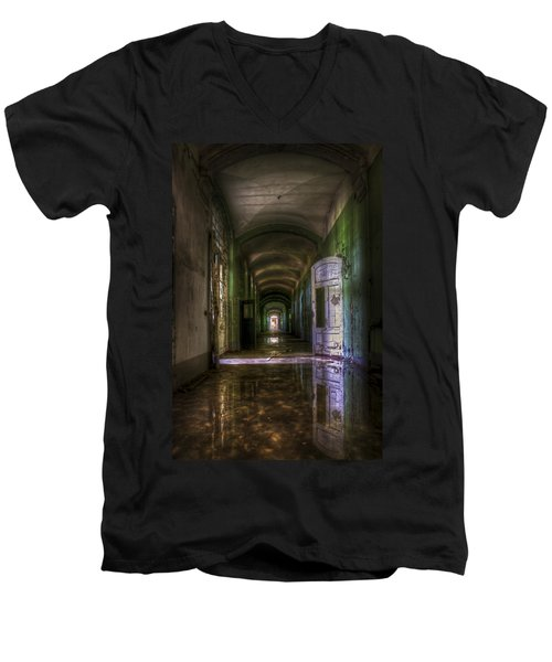 Forgotten Reflections Men's V-Neck T-Shirt by Nathan Wright