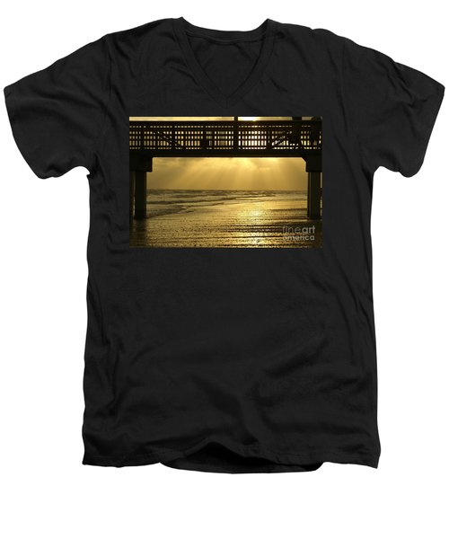 Fort Myers Golden Sunset Men's V-Neck T-Shirt