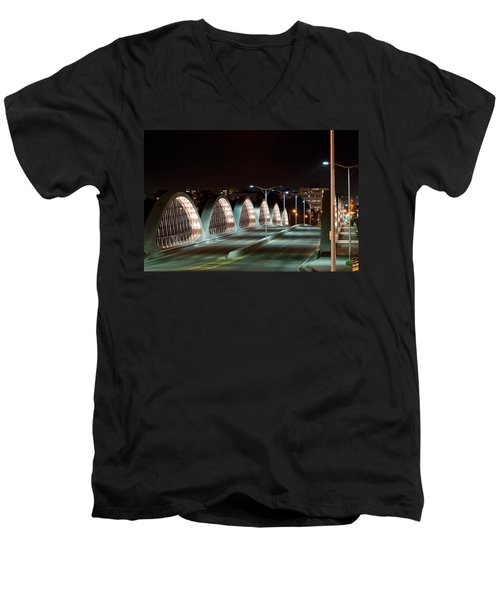 Fort Worth Seventh Street Bridge Oct 10 2014 Men's V-Neck T-Shirt