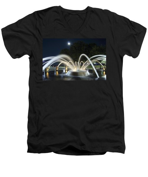 Fountain Charleston Waterfront Park Men's V-Neck T-Shirt