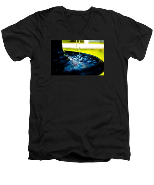 Fountain Of Time Men's V-Neck T-Shirt by Mez