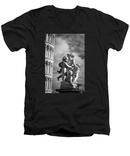 Fountain With Angels Men's V-Neck T-Shirt