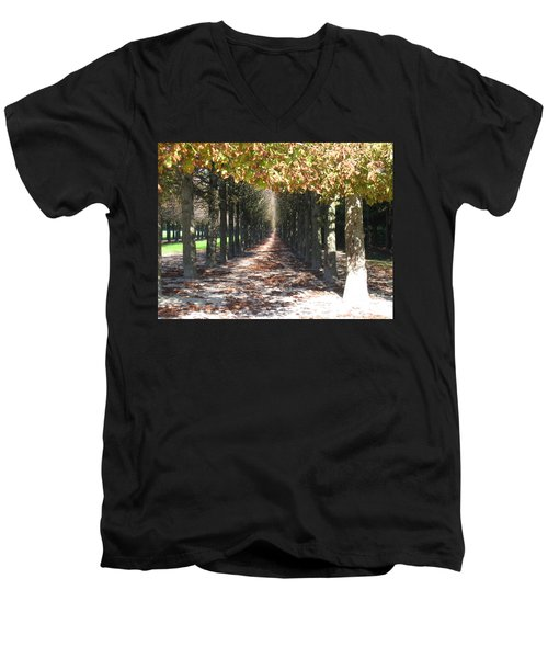 Fountainebleau - Under The Trees Men's V-Neck T-Shirt by HEVi FineArt