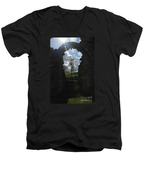 Fountains Abbey Men's V-Neck T-Shirt