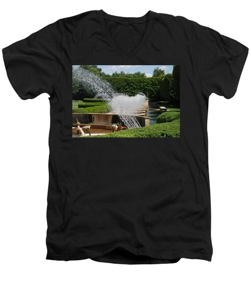 Men's V-Neck T-Shirt featuring the photograph Fountains by Jennifer Ancker