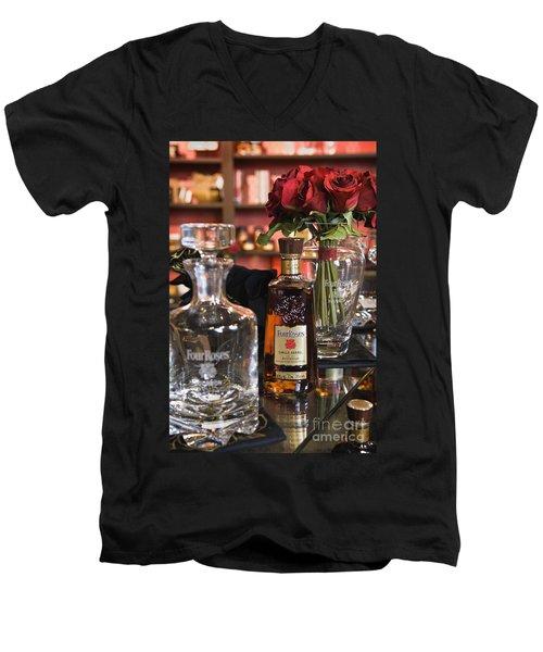 Four Roses Single Barrel - D008612 Men's V-Neck T-Shirt