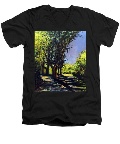 Foxgrapes And A Sandy Road Men's V-Neck T-Shirt