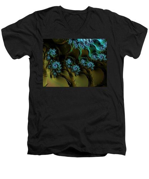 Fractal Forest Men's V-Neck T-Shirt