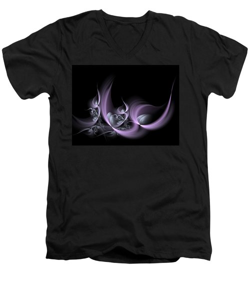Fractal Fruits Men's V-Neck T-Shirt