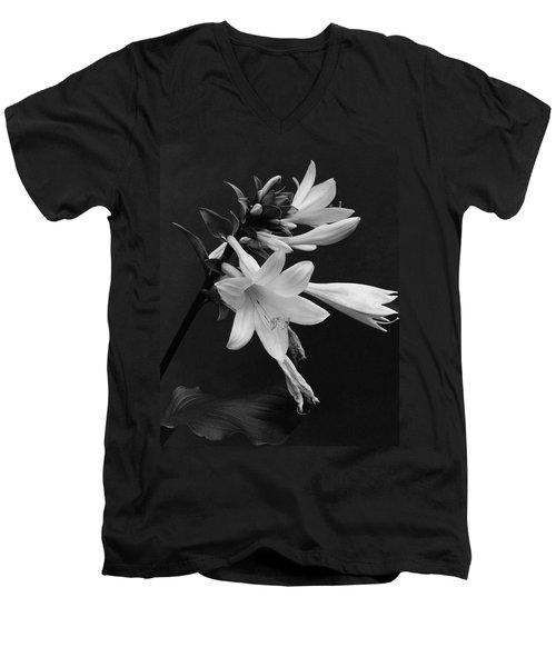 Fragrant Plantain Lily Men's V-Neck T-Shirt
