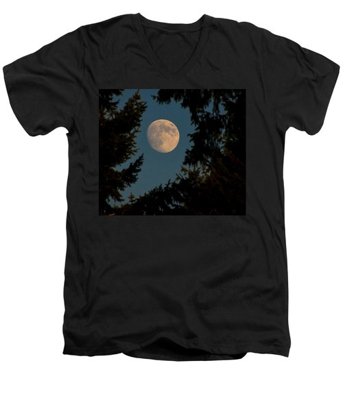 Framed Moon Men's V-Neck T-Shirt