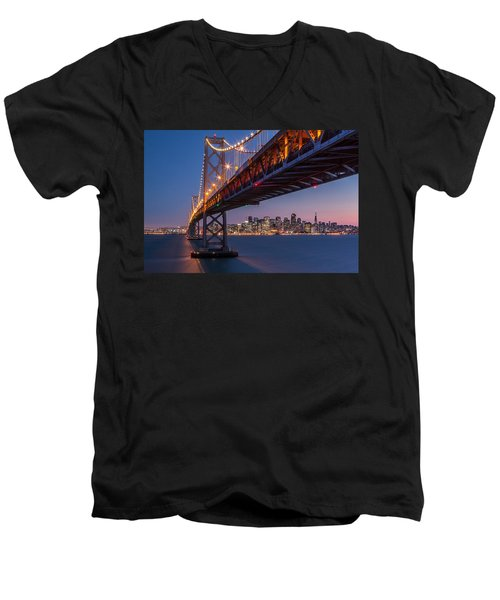Framing San Francisco Men's V-Neck T-Shirt by Mihai Andritoiu