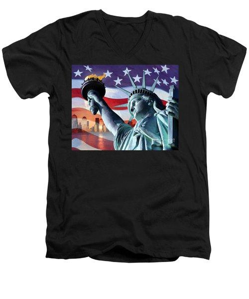Freedom Men's V-Neck T-Shirt