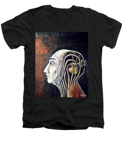 Freedom Of Compulsions Habits And Addictions Men's V-Neck T-Shirt