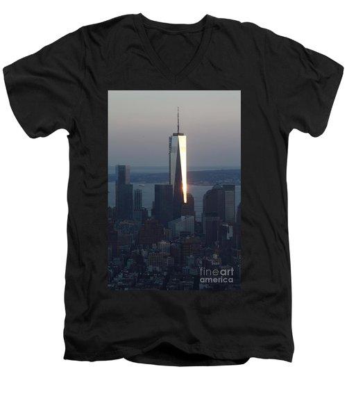 Freedom Tower Men's V-Neck T-Shirt