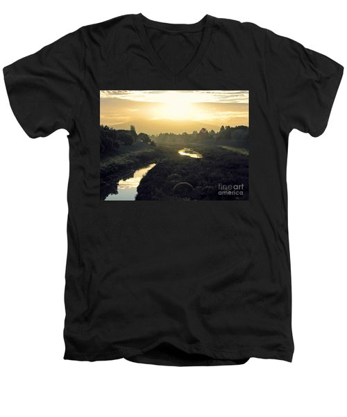 Men's V-Neck T-Shirt featuring the photograph Fremont Dawn by Ellen Cotton