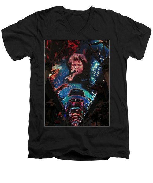 Fremont Street Experience Men's V-Neck T-Shirt by Kay Novy