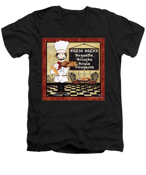 French Chef-a Men's V-Neck T-Shirt