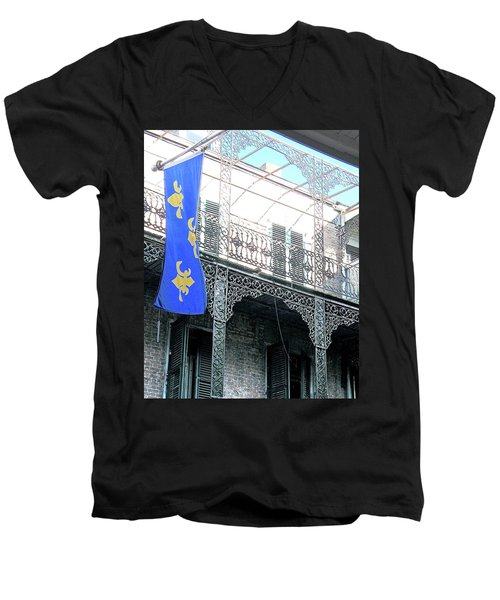 Men's V-Neck T-Shirt featuring the photograph French Quarter Nola by Lizi Beard-Ward