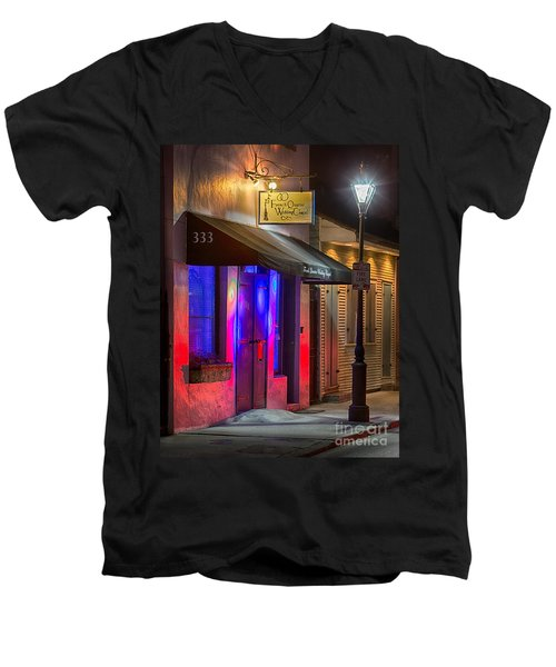 French Quarter Wedding Chapel Men's V-Neck T-Shirt by Jerry Fornarotto