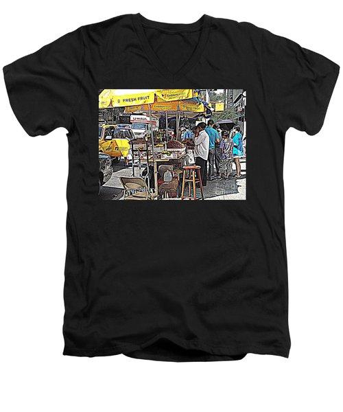 Men's V-Neck T-Shirt featuring the photograph Fresh Fruit by Miriam Danar