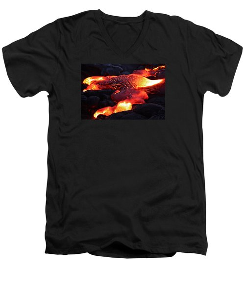 Fresh Lava Flow Men's V-Neck T-Shirt
