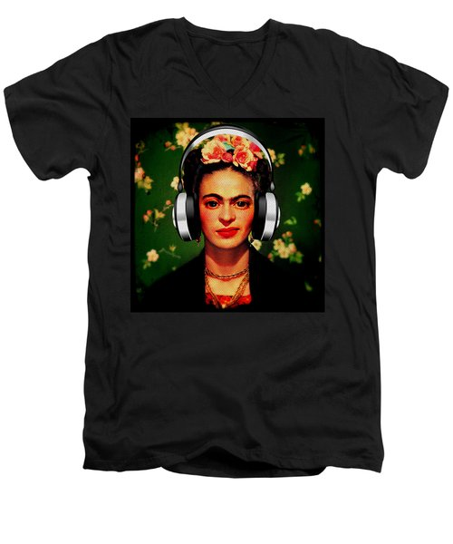 Frida Jams Men's V-Neck T-Shirt