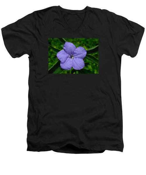 Wild Fringeleaf Ruellia Men's V-Neck T-Shirt