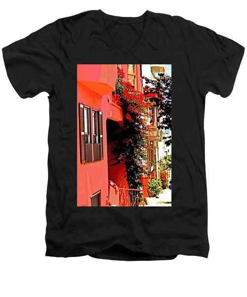 Frisco Street Flowers Men's V-Neck T-Shirt