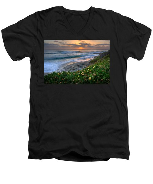 From Above Men's V-Neck T-Shirt by Peter Tellone