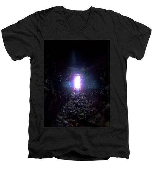 From Dark To Bright Men's V-Neck T-Shirt