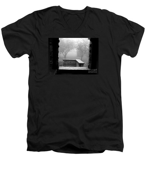 Men's V-Neck T-Shirt featuring the photograph From The Window by Susan  Dimitrakopoulos