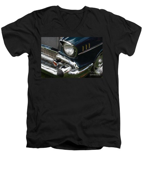 Front Side Of A Classic Car Men's V-Neck T-Shirt