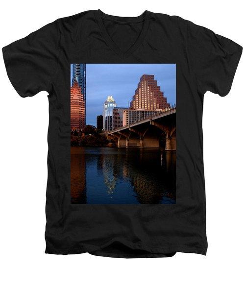 Frost Across The River Men's V-Neck T-Shirt