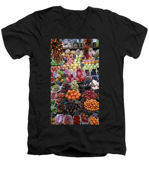 Fruits Men's V-Neck T-Shirt