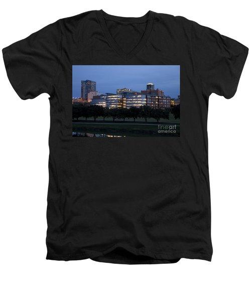 Ft. Worth Texas Skyline Men's V-Neck T-Shirt
