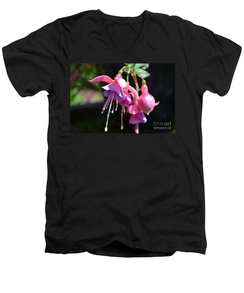 Fuchsia Flower Men's V-Neck T-Shirt