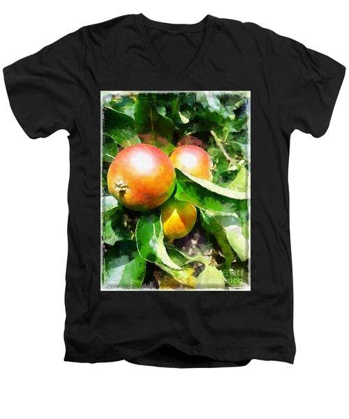 Fugly Manor Apples Men's V-Neck T-Shirt