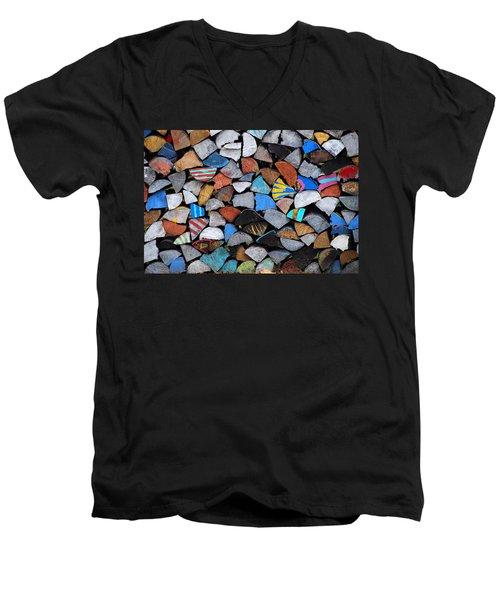 Full Cord Men's V-Neck T-Shirt by John Schneider