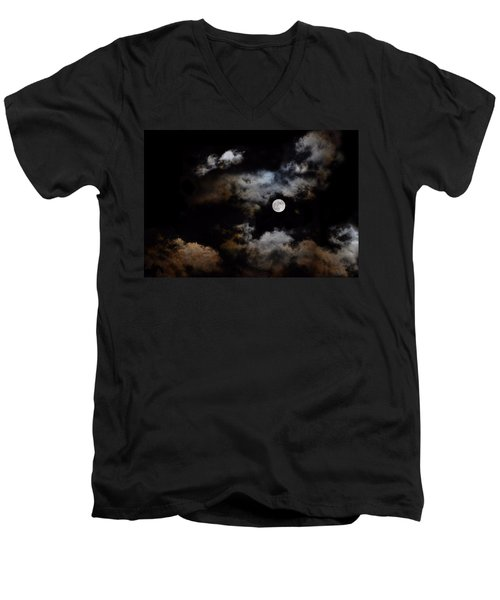 Full Moon After The Storm Men's V-Neck T-Shirt