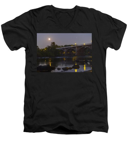 Full Moon And Jupiter-1 Men's V-Neck T-Shirt