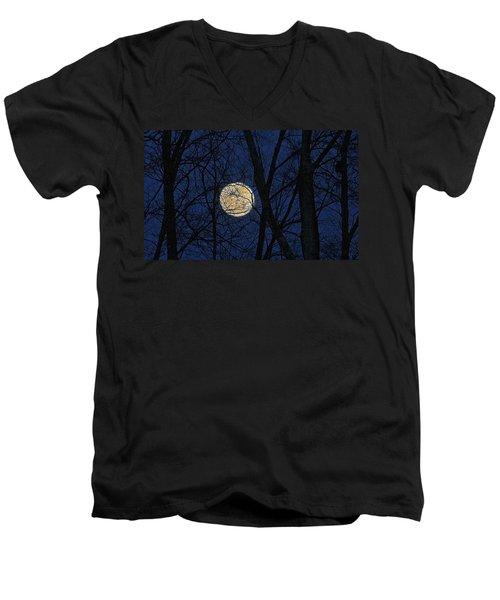 Full Moon March 15 2014 Men's V-Neck T-Shirt