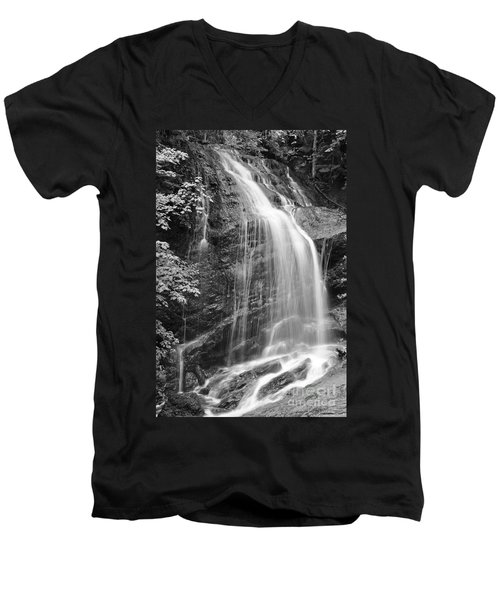 Fuller Falls Waterfall Black And White Men's V-Neck T-Shirt