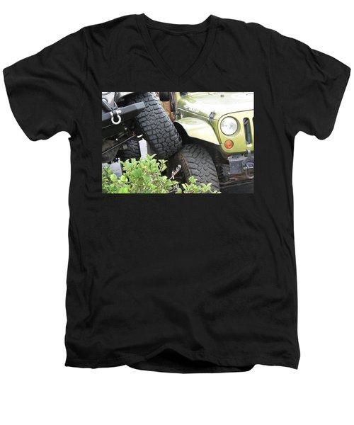 Funny Place To Park Men's V-Neck T-Shirt