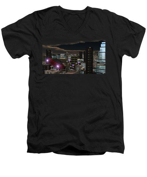 Futura 2051 Men's V-Neck T-Shirt