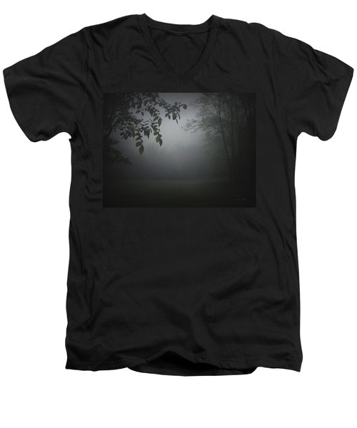 Men's V-Neck T-Shirt featuring the photograph Gaia Cathedral by Cynthia Lassiter