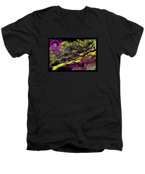 Galactic Luminescence Men's V-Neck T-Shirt by Susanne Still
