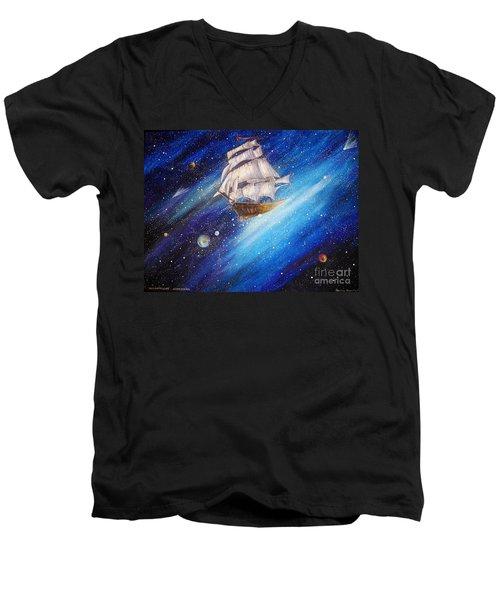 Galactic Traveler Men's V-Neck T-Shirt