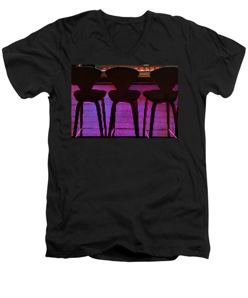 Men's V-Neck T-Shirt featuring the photograph Game Table 2 by Tammy Espino