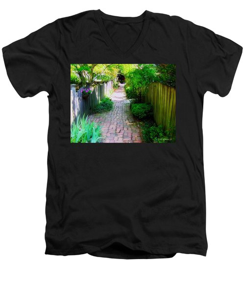 Garden Alley Men's V-Neck T-Shirt by Brian Wallace